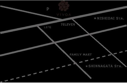 ヴィヴォア VIVOA 地図